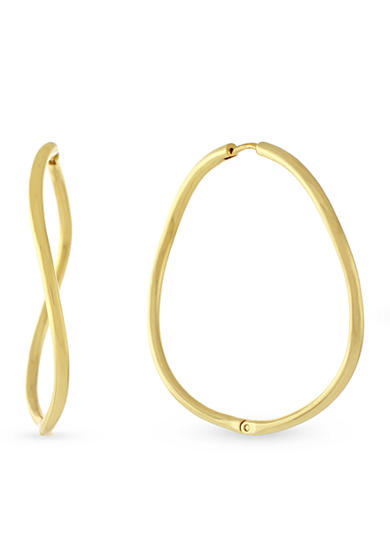 Vince Camuto Languid Looks Gold-Tone Twisted Large Huggy Earrings