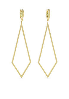 Vince Camuto Gold-Tone Delicate Lines Diamond Drop Earrings
