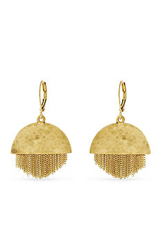 Vince Camuto Gold-Tone Half and Half Chain Fringe Drop Earrings