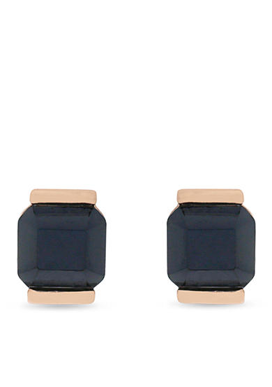 Vince Camuto Navy Stone Stud Earrings