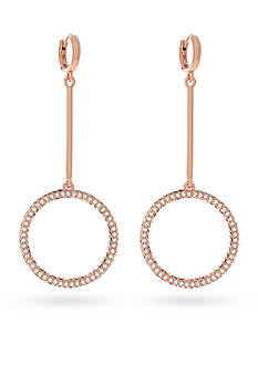 Vince Camuto Pave Drop Huggie Hoop Earrings