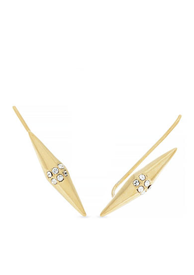 Vince Camuto Gold-Tone Crystal Spear Linear Earrings