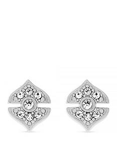 Vince Camuto Silver-Tone Pave Studs