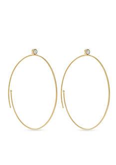Vince Camuto Spiral Crystal Hoop Earrings