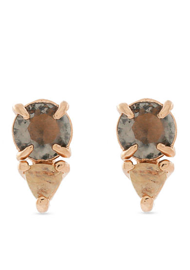 Vince Camuto Rose Gold Mauve & Citrine Colored Stud Earrings