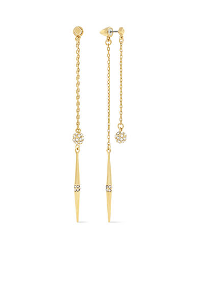 Vince Camuto Gold-Tone Front to Back Double Drop Earrings