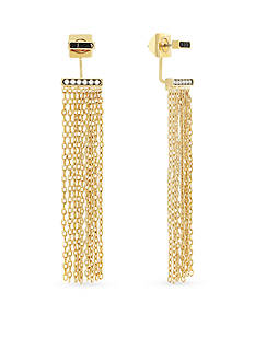 Vince Camuto Gold-Tone Fringe Front to Back Earrings