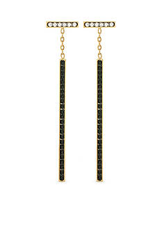 Vince Camuto Light and Dark Gold-Tone Linear Earrings