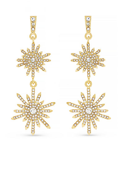 Vince Camuto Gold-Tone Multi-Drop Leverback Earrings