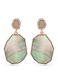 Vince Camuto Rose Gold-Tone Double Drop Earrings