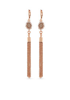 Vince Camuto Rose Gold-Tone Linear Tassel Earrings