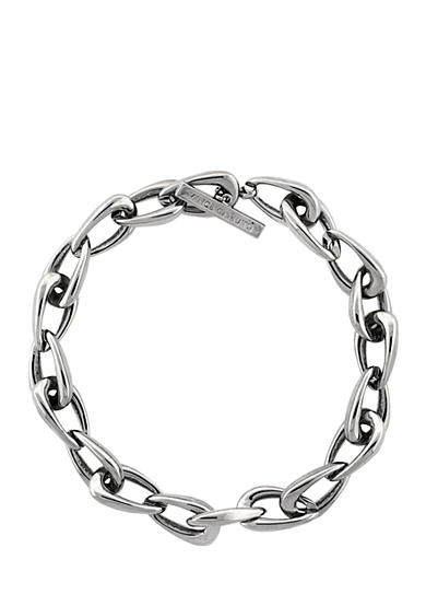 Vince Camuto Silver-Tone Core Link Collar Necklace
