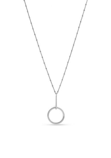 Vince Camuto Silver-Tone Ring Leader Pendant Necklace