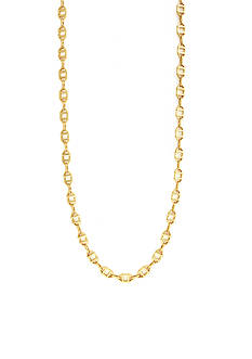 Vince Camuto Gold-Tone Geo Links Strand Necklace