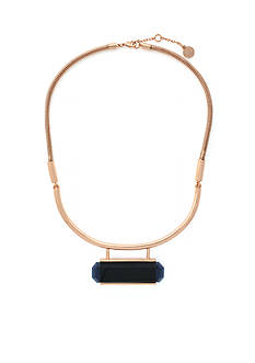Vince Camuto Rose Gold-Tone Modern Strokes Half Torque Collar Necklace