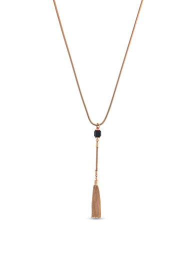 Vince Camuto Rose-Gold Tone Y Necklace