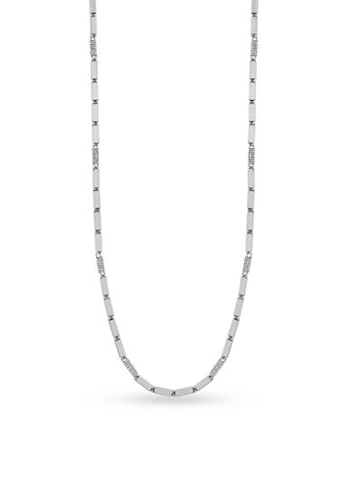 Vince Camuto Silver-Tone Geo Chain Necklace