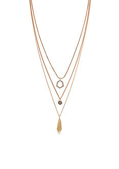 Vince Camuto Multi Row Pendant Necklace