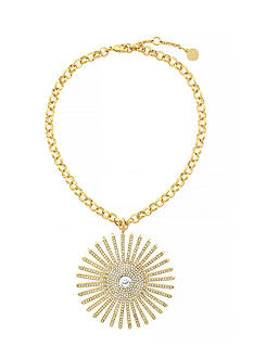 Vince Camuto Gold-Tone Drama Burst Pendant Necklace