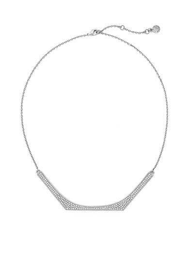 Vince Camuto Delicate Silver-Tone Pave Necklace