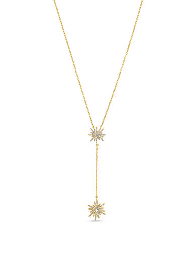Vince Camuto Gold-Tone Simple Burst Y Necklace