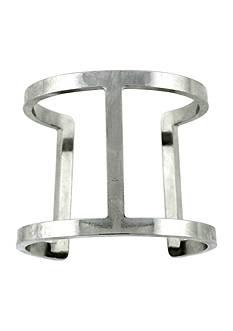 Vince Camuto Silver T-Bar Cuff Bracelet