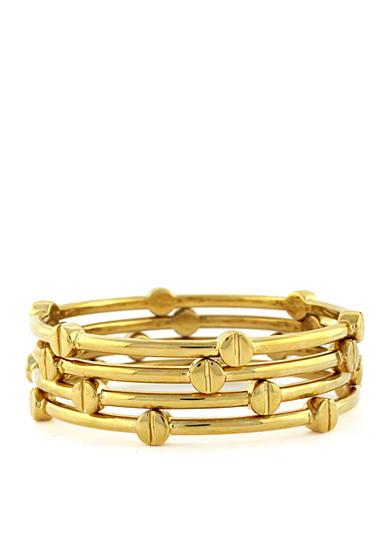 Vince Camuto Set of Four Gold-Tone Bangle Bracelets
