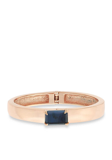 Vince Camuto Rose Gold-Tone Modern Strokes Cuff Bracelet