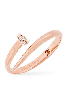 Vince Camuto Rose-Gold Tone Flat Nail Head Hinged Cuff Bracelet