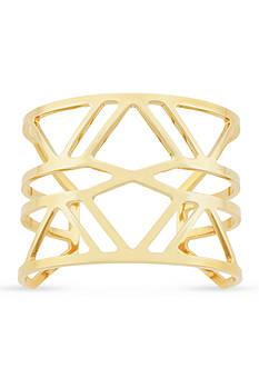 Vince Camuto Gold Tone Geometric Cuff Bracelet
