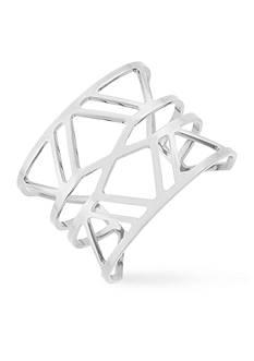 Vince Camuto Silver-Tone Geometric Cuff Bracelet