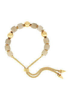 Vince Camuto Gold-Tone Hammered Beaded Bracelet