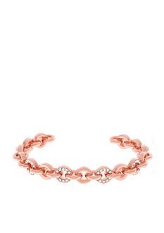 Vince Camuto Rose Gold-Tone Pave Crystal Link Bracelet