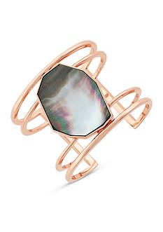 Vince Camuto Rose Gold-Tone Drama Cuff Bracelet