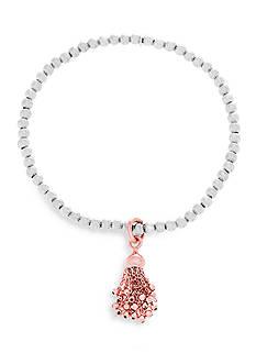 Belk Silverworks Sterling Silver Two-Tone Stretch Bracelet