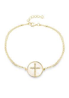 Belk Silverworks 18k Gold Sterling Silver Chain Bracelet