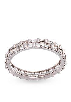 Belk Silverworks Rhodium-Plated Sterling Silver Cubic Zirconia Eternity Ring