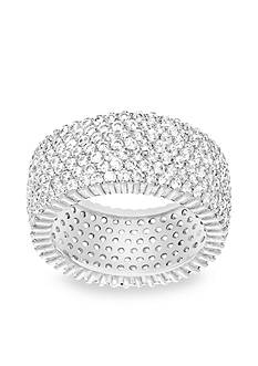 Belk Silverworks Rhodium-Plated Sterling Silver Pave Cubic Zirconia Band Ring