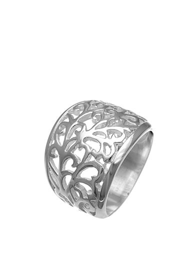Belk Silverworks Silver-Plated Graduated Filigree Band Ring, Size 8