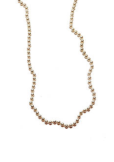 Red Camel Long Pearl Strand Necklace