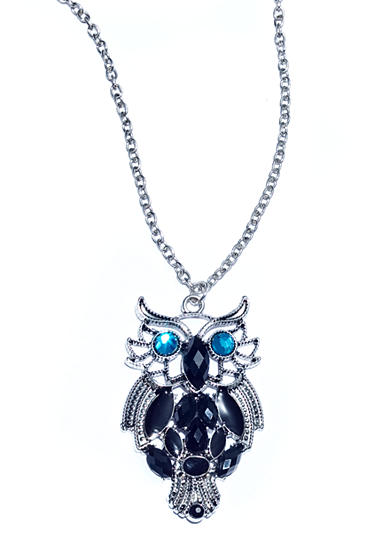 Red Camel® Owl Pendant Oval Necklace
