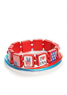 Red Camel Americana Stackable Bracelets