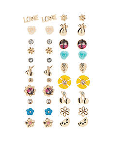 Red Camel® Gold-Tone Poppy Bright Stud Earring Set
