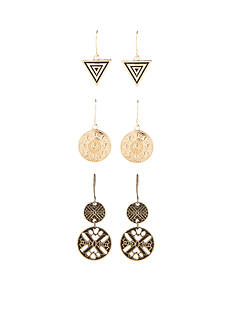 Red Camel® Gold-Tone Desert Dreaming Trio Drop Earring Set