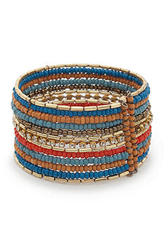 Red Camel® Gold-Tone Spirit Animal Beaded Cuff Bracelet