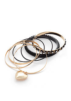 Red Camel Gold-Tone 6-Piece Bangle Bracelet Set
