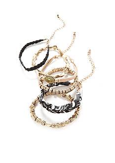 Red Camel Silver-Tone 6-Piece Bandanna Bracelet Set