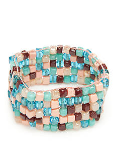 Red Camel® Boho Chic Multi Bead Stretch Bracelet