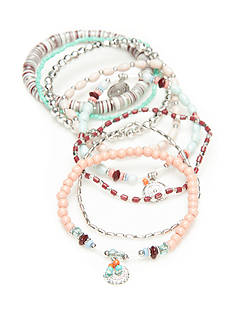Red Camel® Silver-Tone Boho Chic Stretch Bracelet Set