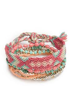 Red Camel Gold-Tone Bohemian Fun Friendship Bracelet Set